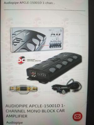 AUDIOPIPE APCLE-15001D 1CHANNEL MONO BLOCK CAR AMPLIFIERS (BRAND-NEW) for Sale in Houston, TX