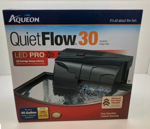 AQUEON QUIET FLOW 30 POWER FILTER FOR AQUARIUMS. 200 GPH. for Sale in Oakland Park, FL