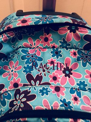 L.L. Bean rolling girls monogrammed RACHEL luggage/backpack for Sale in Natick, MA