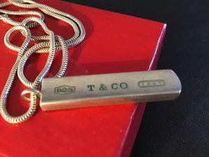Tiffany $ Co. 1837 bar necklace for Sale in Bridgewater, MA