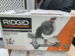 "12"" ridgid miter saw compound dual bevel for Sale in Lakeland, FL"