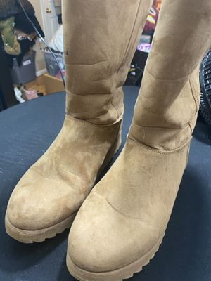 Women's Camel Color Suede Snow Boots for Sale in Fairfax, VA