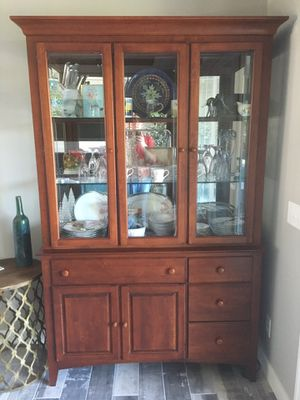 China Hutch, Cherry Finish (Contents not included) for Sale in Davenport, IA