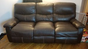 Reclining leather sofa for Sale in New York, NY