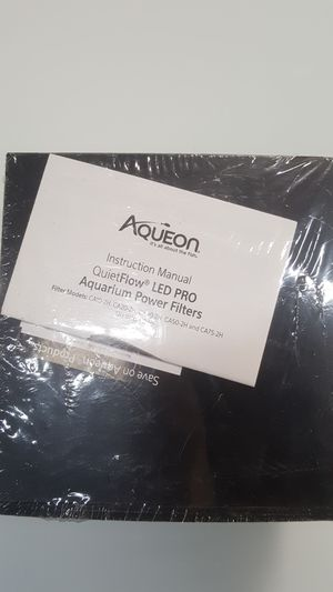 Aqueon led pro aquarium power filter for Sale in Houston, TX