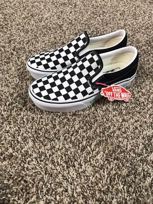 Vans Slip-on Shoes Checkerboard Womens Size 5.5 New with tags New without box for Sale in Buckhannon, WV