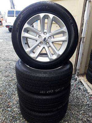 4 RIMS AND TIRES 18 inch (04-15) FORD EXPLORER WITH 235/60R18 CONTINENTAL $300 for Sale in San Diego, CA