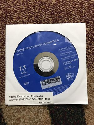 Adobe Photoshop Elements 8 for Mac for Sale in Bellevue, WA
