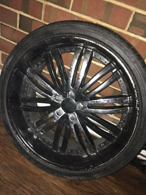 22 inch rims black and chrome for Sale in Harrisburg, PA