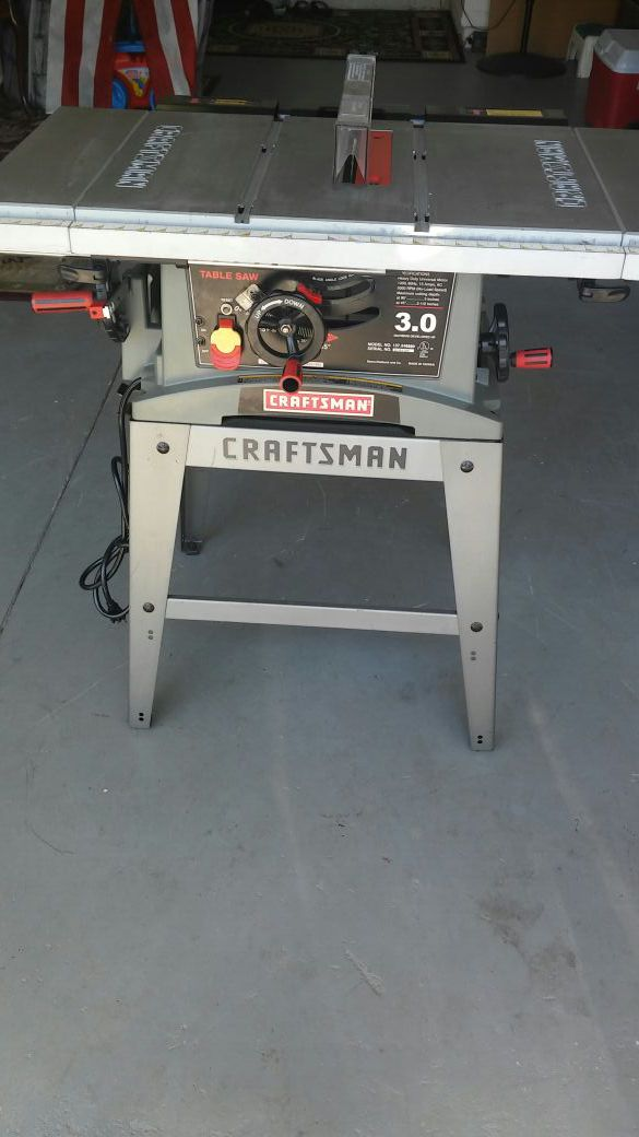 Remarkable Craftsman 10 In Table Saw Heavy Duty Universal Motor 3 0 Model No 137 248880 Serial No Rfr4380 Made In Taiwan For Sale In Orlando Fl Offerup Download Free Architecture Designs Rallybritishbridgeorg
