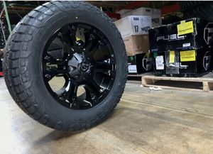 """20x9 D560 Fuel Vapor Black Wheels 33"""" AT Tires Package 6x135 Ford F-150 for Sale in Tampa, FL"""
