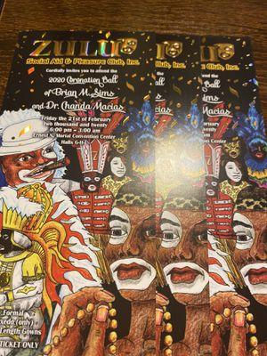 Zulu Ball tickets 220.00 includes a bottle for Sale in New Orleans, LA