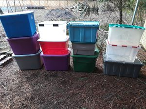 12 assorted sizes storage bins and containers for Sale in Bonney Lake, WA