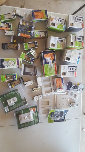 Lot Of Electrical switches, outlets, controllers, and plates for Sale in Phoenix, AZ