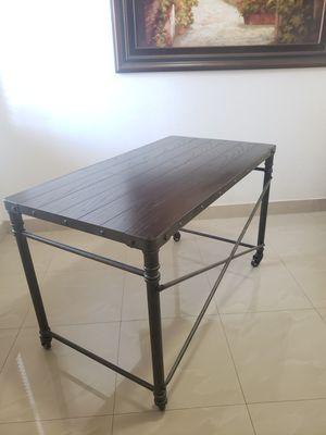antique bronze wood /metal frame office desk for Sale in Princeton, FL