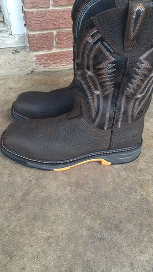 work boots Ariat con casquillo .11.5d for Sale in Houston, TX