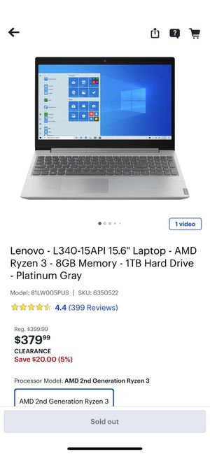 Brand New Lenovo Laptop In its original box from Best Buy for Sale in Miami, FL