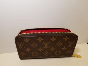 Louis Vuitton Monogram Brown/ Red Leather Woman's Wallet for Sale in Queens, NY