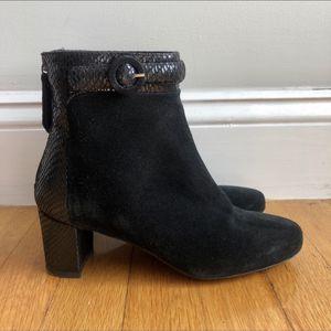 Aquatalia black, suede, winter ankle boots for Sale in Boston, MA