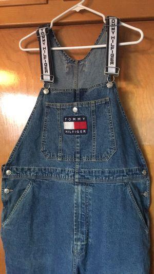 Tommy Hilfiger vintage overalls size large in men's vintage 90s excellent condition for Sale in Jurupa Valley, CA