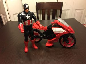 Captain America figure and motorcycle for Sale in Manassas, VA