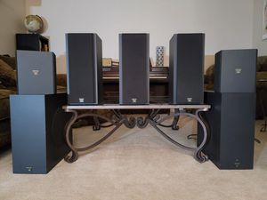 """Onkyo THX Speaker System 1, full 5.1 home theater with dual 10"""" subs for Sale in Gilbert, AZ"""