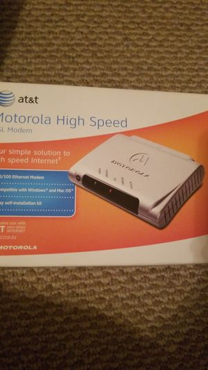 Motorola High Speed DSL Modem for AT&T for Sale in Chicago, IL