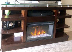 Tv stand with fireplace for Sale in Bartow, FL