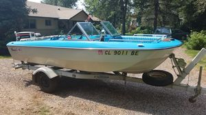 16' Newman tri-hull boat with 85 and 4 hp motors for Sale in Boulder, CO