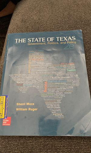 the state of texas government, politics, and policy 2nd edition sherri mora william ruger college textbook for Sale in San Antonio, TX
