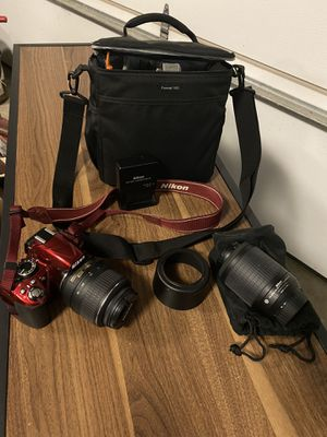 Nikon D3100 digital camera. Red. Excellent condition. for Sale in Burnet, TX