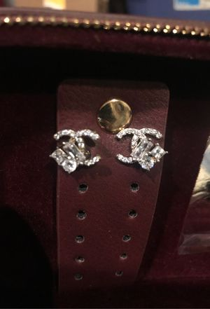 Sparkling CC earrings for Sale in Jurupa Valley, CA