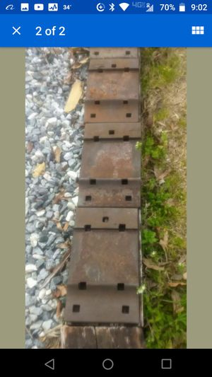"(3) Railroad Crosstie Anchor Plate 8""x13"" Double-Shoulders for Sale in Greensboro, NC"