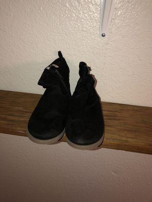 Black boots size 10c for little girls for Sale in Gretna, LA