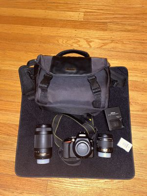Nikon d3500 dual lens bundle for Sale in San Francisco, CA