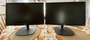 LG LED Dual Monitors for Sale in Spring Valley, CA