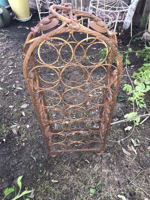 Beautiful antique wine metal rack fit 20 bottles for Sale in Pflugerville, TX