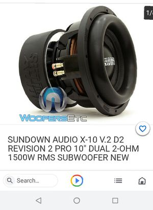 Sundown Audio subwoofer for Sale in North Bend, OR
