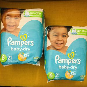 Pampers Baby Dry Diapers Size 6 (21count) for Sale in Silver Spring, MD