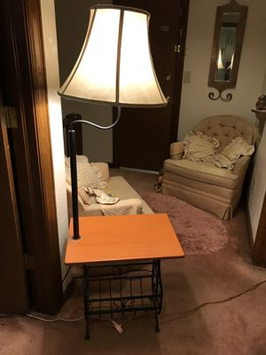 Table lamp and magazines rack for Sale in Edmond, OK