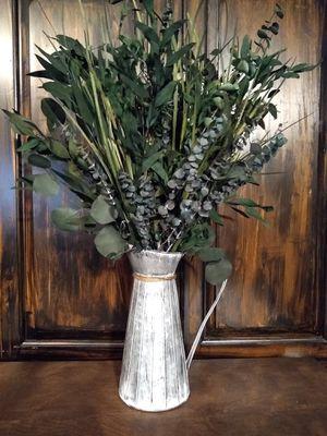New greenery eucalyptus arrangement in galvanized pitcher for Sale in Adairsville, GA