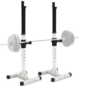 Pair of Dumbbell Rack Adjustable Standard Solid Sturdy Steel Squat Stands Barbell Bench Free Press Stands Portable Rack for Home Gym Exercise Fitness for Sale in South El Monte, CA