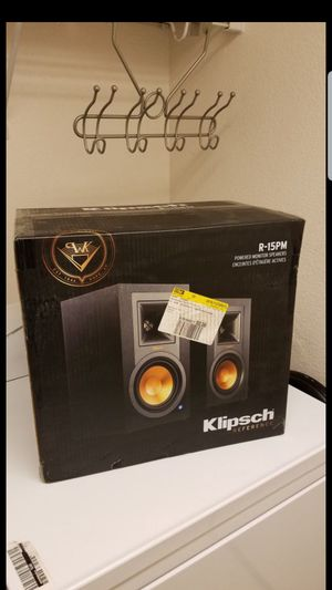 NEW Klipsch R15pm Powered Monitor Speakers Bluetooth Wireless Speakers... No need of amplifier powered for Sale in HILLTOP MALL, CA