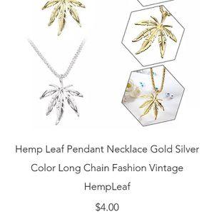 Hemp Leaf long chain Pendant Necklace for Sale in Phoenix, AZ