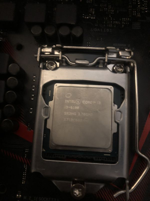 COMBO : INTEL CORE i3 1600 3.7GHZ (with fan) and ASUS STRIX b250 gaming motherboard