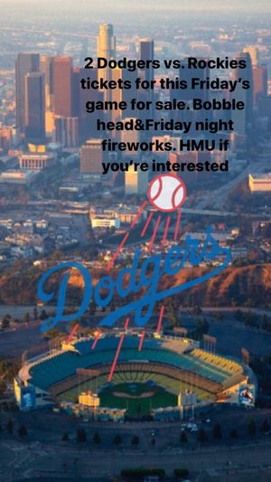 Dodger game tickets for Sale in Fontana, CA