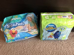 Size 3 Diapers and Swim Diapers Bundle for Sale in Las Vegas, NV