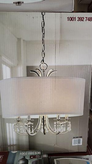 5 light Chandelier in polished nickel. for Sale in Mesa, AZ