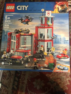 Lego city 60215 Fire station brand new in box sealed for Sale in Tarpon Springs, FL