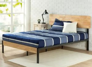 Full size Zinus Bed Frame and Linespa Mattress for Sale in New York, NY